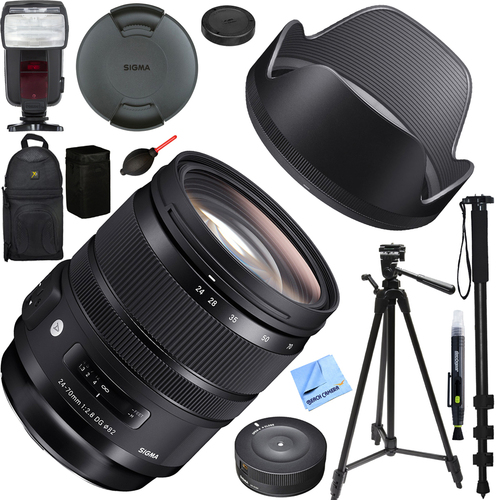Sigma 24-70mm F2.8 DG OS HSM Art Lens for Canon Mount (576-954) Deluxe Bundle