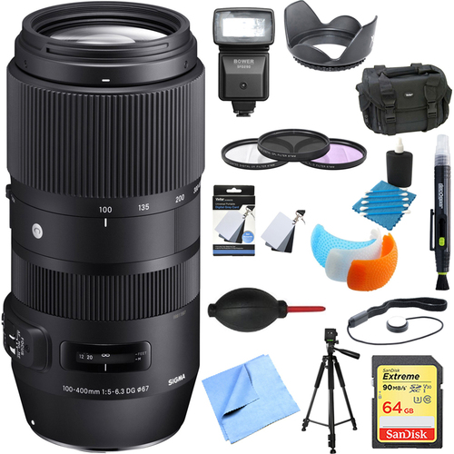 Sigma 100-400mm F5-6.3 Full Frame Telephoto Lens Nikon Ultimate Accessory Bundle