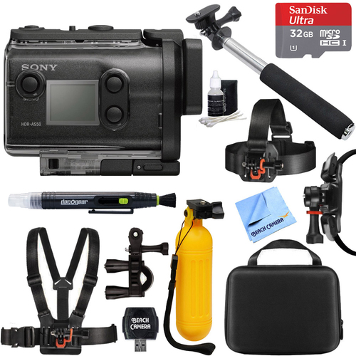 Sony HDR-AS50/B Full HD Action Cam + 32GB Outdoor Mount Kit