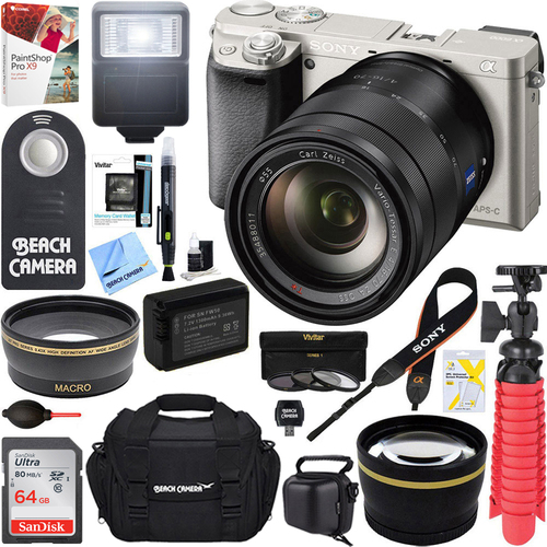 Sony ILCE-6000 Alpha a6000 Camera Body-Silver + 16-70mm Mid-Range Zoom Lens Bundle
