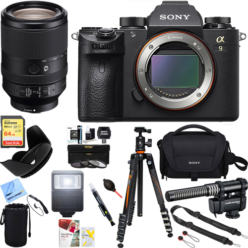 Sony Alpha a9 Mirrorless Lens Digital Camera (Body) + 64GB Accessory Bundle