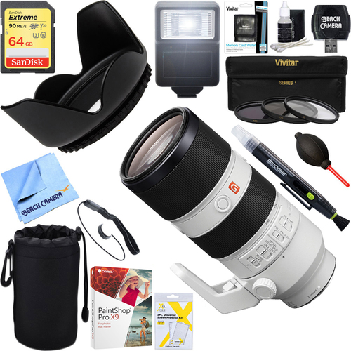 Sony FE 70-200mm F2.8GM OSS E-Mount Lens + 64GB Ultimate Kit