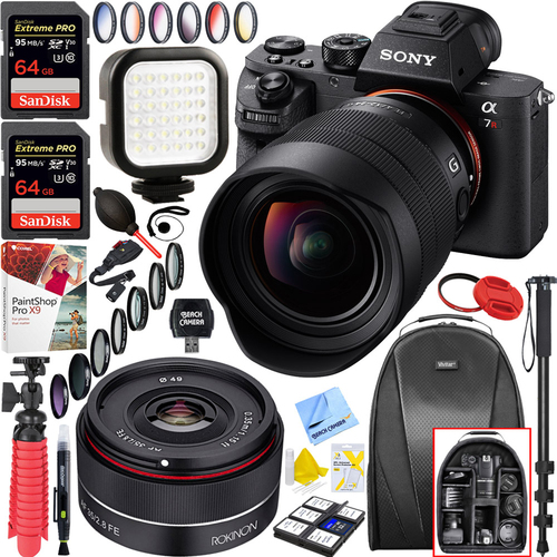 Sony a7R III Mirrorless Camera Body(ILCE7RM3/B) + 12-24mm&Rokinon 35mm Bundle