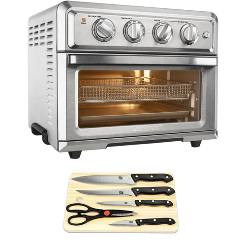 Cuisinart Convection Toaster Oven Air Fryer with 5 - Piece Knife Set and Cutting Board