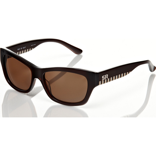 Sonia Rykiel Brown Frame with Brown Lens & Checkerd Arm Detail Sunglasses