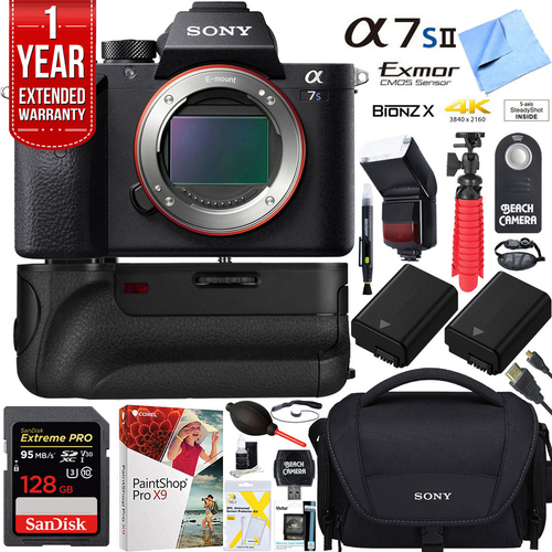 Sony a7S II 12.2MP Full-frame Mirrorless Camera Body +128GB Battery Grip Super Bundle