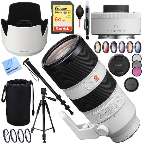 Sony FE 70-200mm F2.8GM OSS E-Mount Lens SEL70200GM with Sony Teleconverter Lens Kit