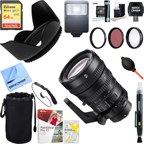 Sony 28-135mm FE PZ F4 G OSS Full-frame Power Zoom Lens + 64GB Ultimate Kit
