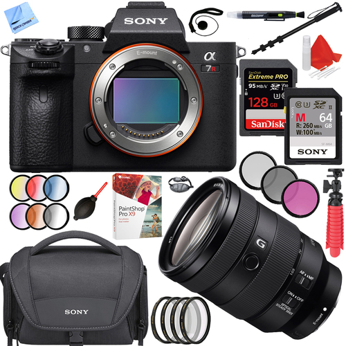 Sony a7R III Mirrorless Camera Body(ILCE7RM3/B)+FE 24-105mm F4 Lens 128GB Bundle