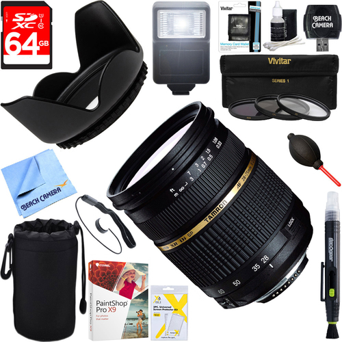 Tamron 28-75mm F/2.8 SP AF Macro XR Di LD-IF For Canon + 64GB Ultimate Kit