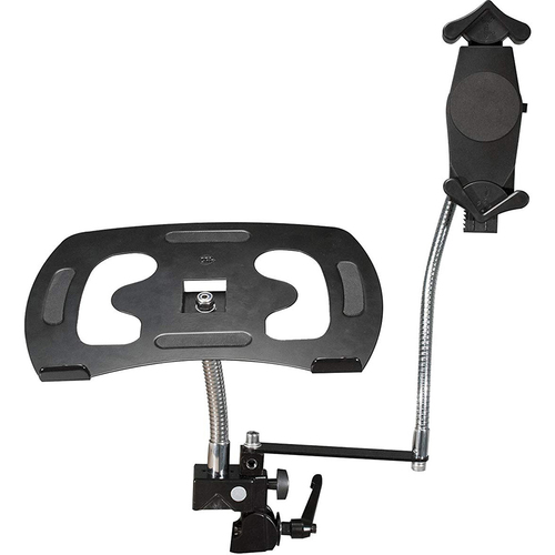 CTA Heavy-Duty Dual Gooseneck Clamp Stand - PAD-DLT