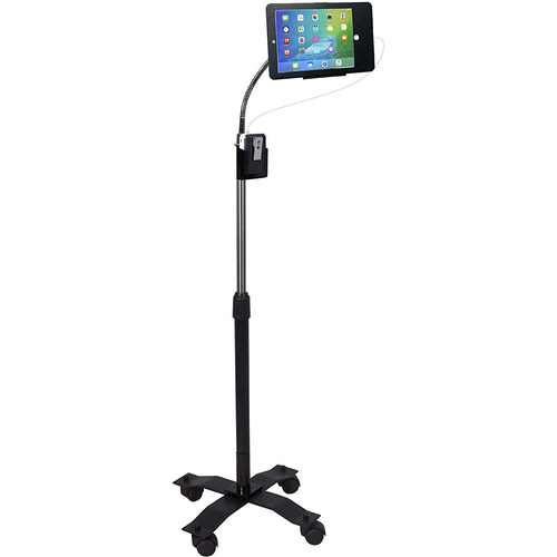 CTA Compact Height-Adjustable Tablet Floor Stand - PAD-SCGS9