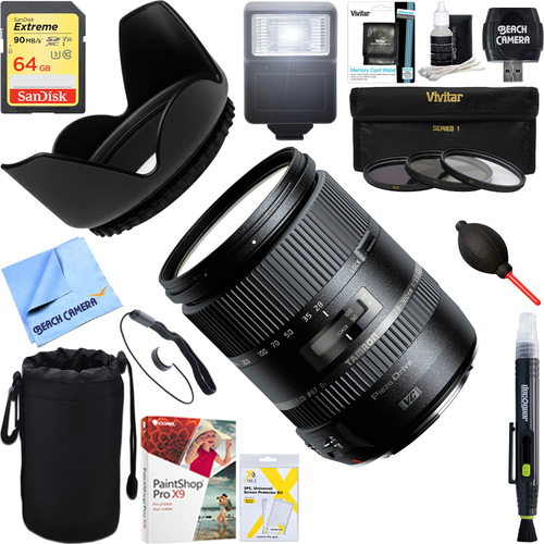 Tamron 28-300mm F/3.5-6.3 Di VC PZD Lens for Canon + 64GB Ultimate Kit