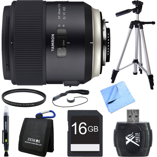 Tamron SP 45mm f/1.8 Di VC USD Lens for Nikon Mount Bundle