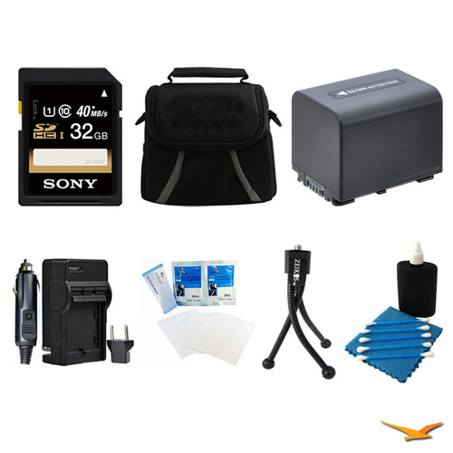 General Brand 32GB SDHC/SDXC Card, Case, Battery, Battery Charger, Mini Tripod, and More