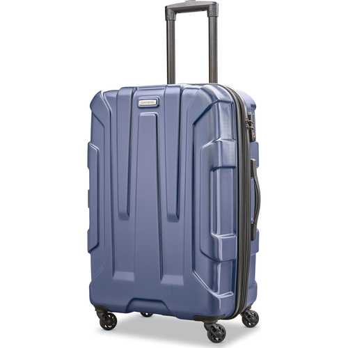 Samsonite Centric Hardside 24` Expandable Spinner Wheel Luggage, Navy Blue - Open Box