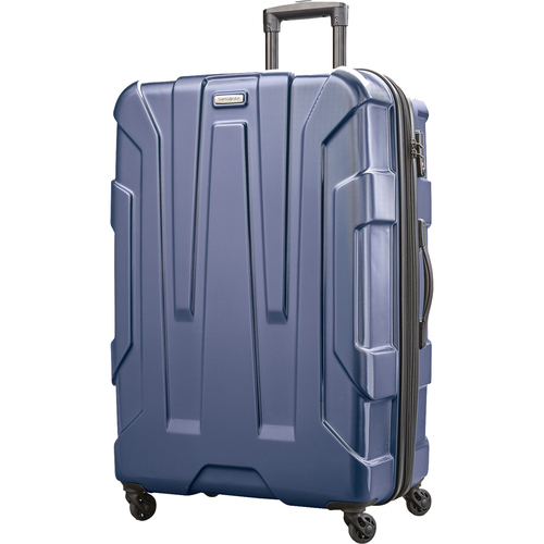 Samsonite Centric Hardside 28` Expandable Spinner Wheel Luggage, Navy Blue - Open Box