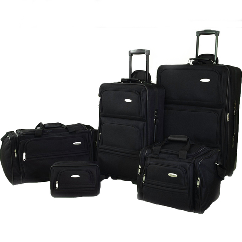 Samsonite 5 Piece Nested Luggage Set (Black)
