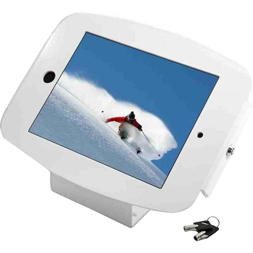 Mac Locks iPad Space Enclosure Kiosk With 45-Degree in White - 101W235SMENW