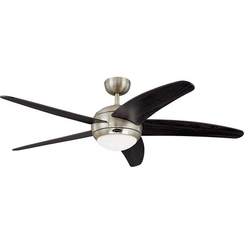 Westinghouse Bendan 52` Five-Blade Indoor Ceiling Fan w Satin Chrome Finish - 7255700