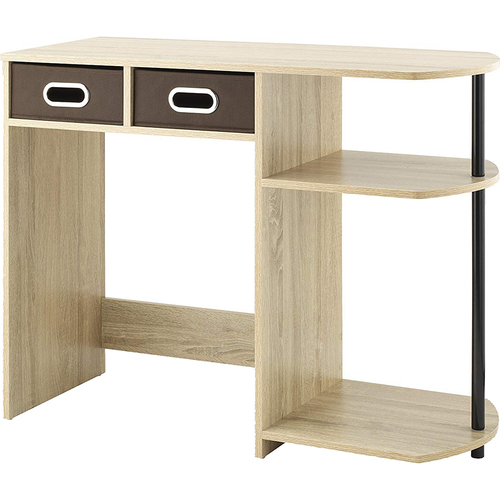 Whitmor Computer Writing Desk with Side Shelves & Removable Bins - 6426-7933-WG-BB