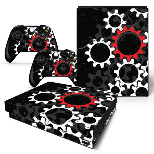 Vinyl Skin Sticker Cover Decal for Microsoft Xbox One X Console and Controllers