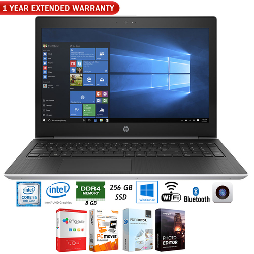 Hewlett Packard ProBook 450 G5 Notebook PC (2ST09UT#ABA) + 1 Year Extended Warranty Pack