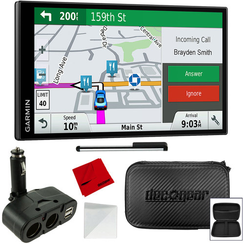 Garmin DriveSmart 61 NA LMT-S 6.95` GPS w/ Smart Features Refurbished Accessory Bundle