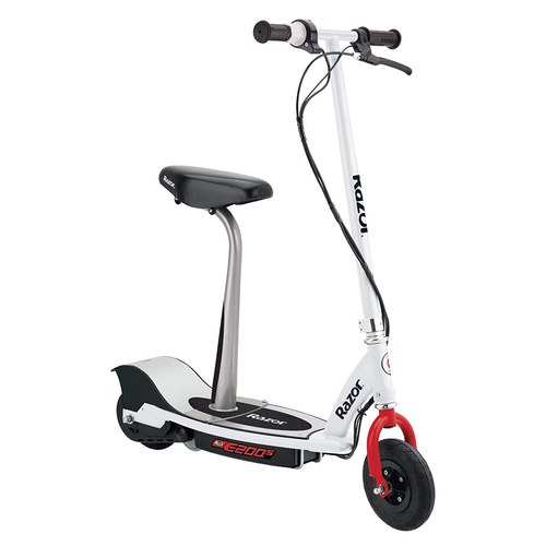 Razor E200S Seated Electric Scooter White / Red