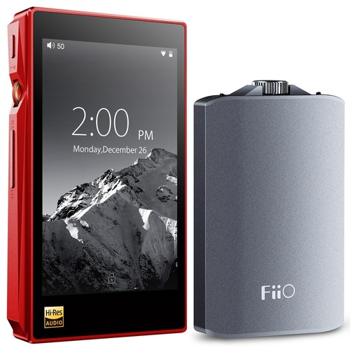 FiiO X5-III High Resolution Lossless Music Player (Red) w/ A3 Amplifier Bundle