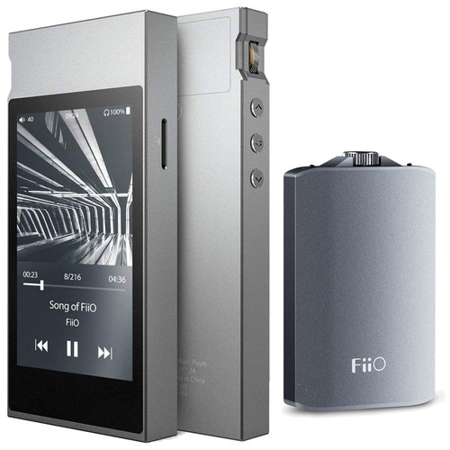 FiiO M7 High Resolution Music Player with A3 Portable Headphone Amplifier - (Silver)