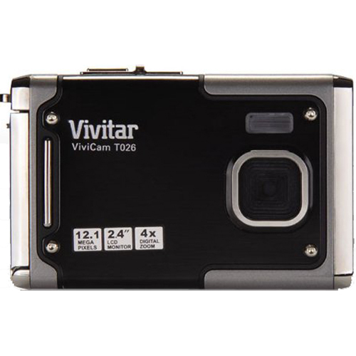 Vivitar ViviCam T026 12.1 MP Water Resistant Digital Camera in Graphite