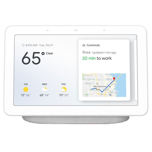 Google Nest Hub with Google Assistant (GA00516-US) - Chalk (6290313)