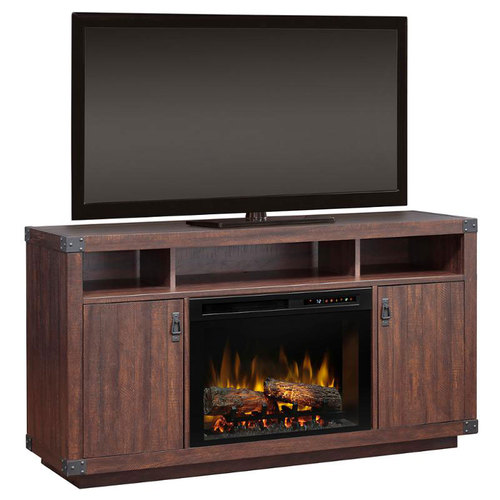 Dimplex Dale Media Console In Grainery Brown Finish