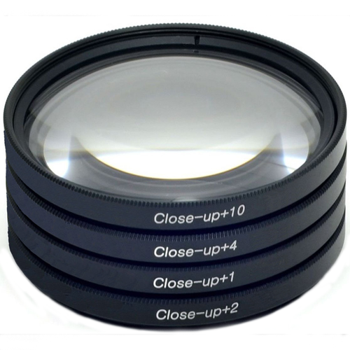 Deco Gear 49mm 4pc HD Macro Close-Up Lens Filter Set +1 +2 +4 +10 with Protective Wallet