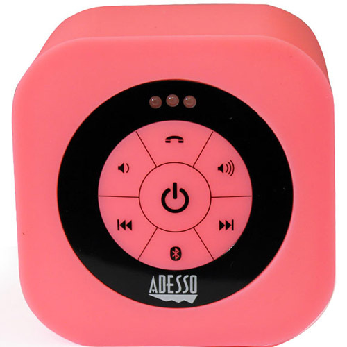 Adesso Bluetooth 3.0 Waterproof Speaker in Pink - Xtream S1P