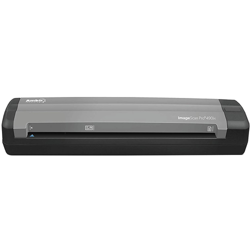 AMBIR ImageScan Pro DS490ix Duplex Document and Card Scanner - DS490IX-AS