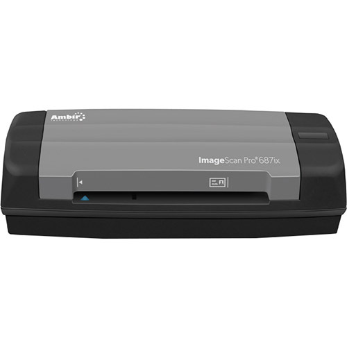 AMBIR DS687ix Duplex Card Scanner AmbirScan - DS687IX-AS
