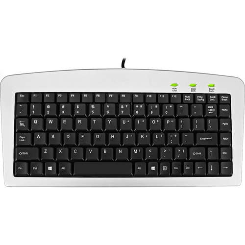 Adesso Mini Keyboard USB and PS/2 Silver and Black - AKB-901