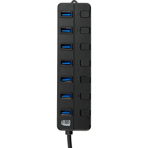 7-Port USB 3.0 Hub with Individual Power Switch & Power Adapter