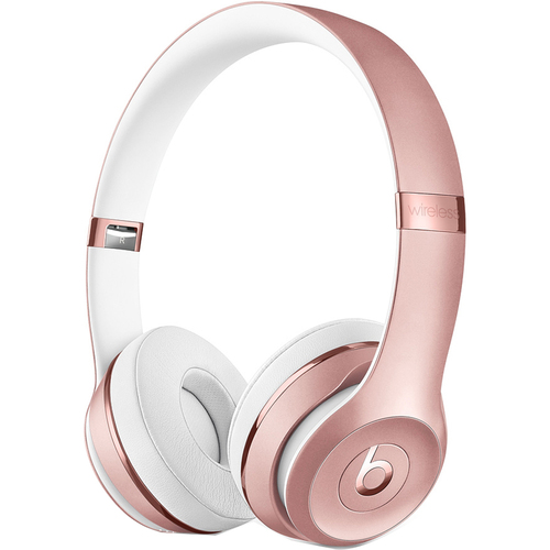 Beats Solo3 Wireless On-Ear Bluetooth Headphones with Microphone Rose Gold - MNET2LL/A