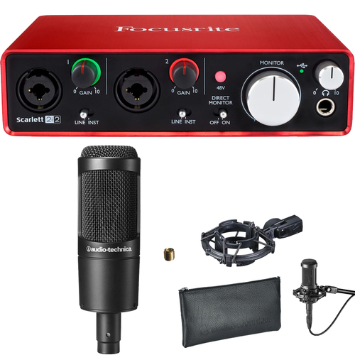 Focusrite Focusrite Scarlett 2i2 USB Audio Interface (2nd Gen) & Cardioid Condenser Bundle