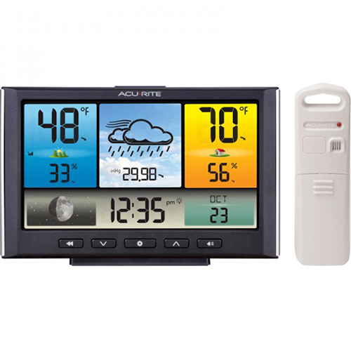 Chaney Instruments Digital Weather Station Weather Clock with Color Display - 02098