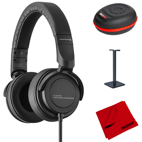BeyerDynamic DT 240 PRO Pro Studio Monitoring Headphones w/ Accessories Bundle