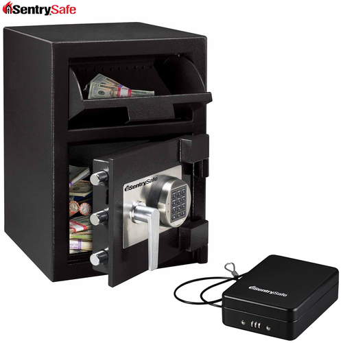SentrySafe Large Depository Safe DH-074E Bonus Includes P005C Portable Safe