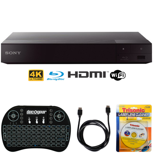 Sony BDP-S6700 4K Upscaling 3D Streaming Blu-ray Disc Player + Accessories Bundle