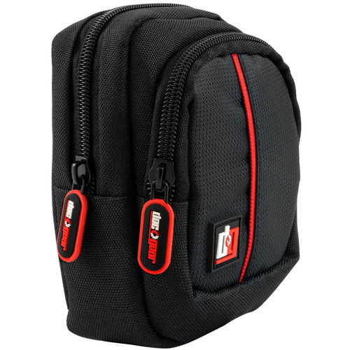 Deco Gear Point and Shoot Field Bag Camera Case (Black/Red) - PNS100BK