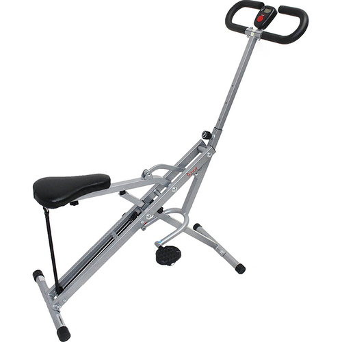 Sunny Health and Fitness Upright Squat Assist Row-N-Ride Trainer for Squat and Glutes Workout - Open Box