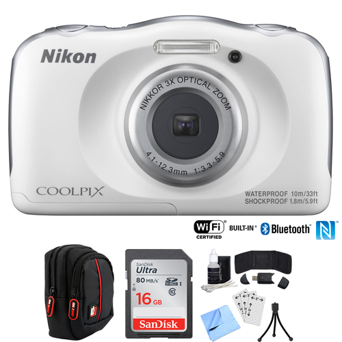 Nikon COOLPIX W100 13.2MP Digital Camera w/ 3x Zoom Lens (Refurbished) + 16GB Bundle