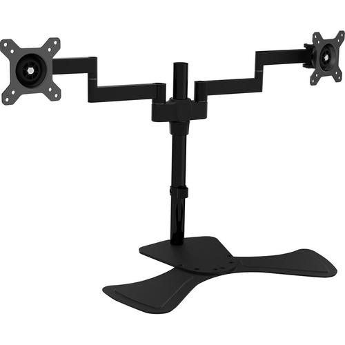 V7 MOUNTS AND STANDS DUAL SWIVEL DESK STAND MOUNT 2 DISPLAYS UP TO 27IN